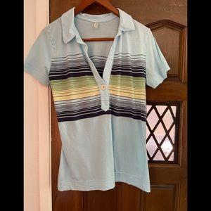 Vintage Old Navy striped v-neck tee shirt